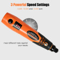 Cordless Rotary Tool Kit Lithium-Ion Battery Powered 3 Speed