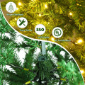 5/6/7 ft PVC Hinged Pre-lit Artificial Fir Pencil Christmas Tree with 150 Warm White UL-listed Lights