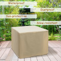 """30"""" 50000 BTU Square Propane Gas Fire Pit Table with Table Cover for Outdoor Backyard"""