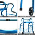 Aluminum Heavy-Duty Folding Wheeled Stand-Assist Walker