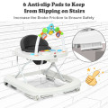 2-in-1 Foldable Baby Walker with Adjustable Heights