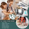 7.5 QT Tilt-Head Stand Mixer 6 Speed 660W with Dough Hook Beater