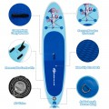 10' Inflatable Stand Up Paddle Board with Adjustable Paddle Pump