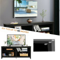 """4-Cubby TV Stand Media Console for TV's up to 65"""" with 3-Position Height Adjustable Shelf"""