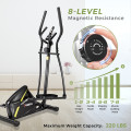 Adjustable Magnetic Elliptical Fitness Trainer with LCD Monitor and Phone Holder