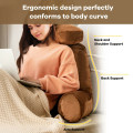 Reading Pillow TV Bed Rest Memory Foam with Arms Rests Neck Roll Back Support