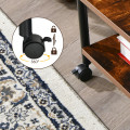 Under Desk Printer Stand with 360° Swivel Casters
