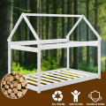 Stable Kids Platform Floor Bed with Roof ang Heavy-Duty Slats