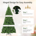 3 Size Premium Artificial Hinged PVC Christmas Tree with Metal Stand