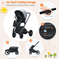 2 in 1 Convertible Baby Stroller with Oversized Storage Basket