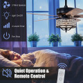 52 Inches Modern Ceiling Fan with Light and Reversible Blades