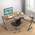 "59"" L-Shaped Corner Desk Computer Table for Home Office Study Workstation"
