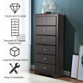 6 Drawers Chest Dresser Clothes Storage Bedroom Furniture Cabinet