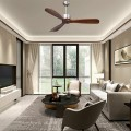"""52"""" Modern Brushed Nickel Finish Ceiling Fan with Remote Control"""