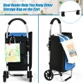 Folding Utility Shopping Trolley with Removable Bag
