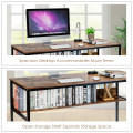 """55"""" Computer Desk Writing Table Workstation Home Office with Bookshelf"""