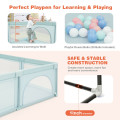 Large Infant Baby Playpen Safety Play Center Yard with 50 Ocean Balls