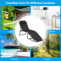 Folding Heightening Design Beach Lounge Chair with Pillow for Patio
