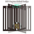 """36"""" Folding Wooden Freestanding Pet Gate  with 360° Hinge"""