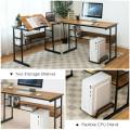 L-Shaped Computer Desk with Tiltable Tabletop