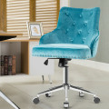 Tufted Upholstered Swivel Computer Desk Chair with Nailed Tri