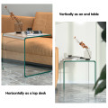 Tempered Sofa Side Glass End Table
