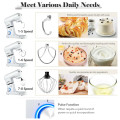 4.8 Qt 8-speed Electric Food Mixer with Dough Hook Beater