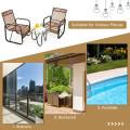 3Pcs Patio Rattan Conversational Furniture Set