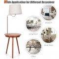 End Table Lamp Bedside Nightstand Lighting with Wireless Charger