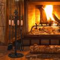 5 Pieces Fireplace Iron Tools Set