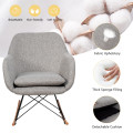 Accent Upholstered Fabric Rocking Armchair