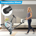Magnetic Exercise Bike Upright Cycling Bike with LCD Monitor and Pulse Sensor