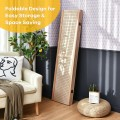 4-Panel Pegboard Display 5Feet Tall Folding Privacy Screen for Craft Display Organized
