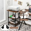 3-tier Adjustable Printer Stand with 360° Swivel Casters