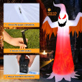 8 Feet Halloween Inflatable Ghost with Rotatable Flame LED Lights