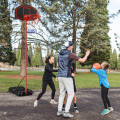 Adjustable Basketball Hoop System Stand Portable with 2 Wheels Fillable Base