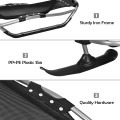 Snow Racer Sled with Textured Grip Handles and Mesh Seat