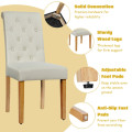 Set of 2 Tufted Dining Chair