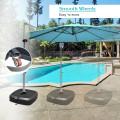 Patio Cantilever Offset Umbrella Base with Wheels