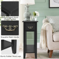 2 Tier End Bedside Sofa Side Table Narrow Nightstand