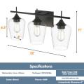 3-Light Wall Sconce Modern Bathroom Vanity Light Fixtures