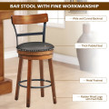 25.5-Inch 360-Degree Bar Swivel Stools with Leather Padded