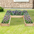 U-Shaped Wooden Garden Raised Bed for Backyard and Patio