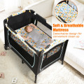 4-in-1 Convertible Portable Baby Playard with Changing Station