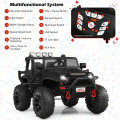 12V Kids Ride On Truck RC Motorized Car with Spring Suspension and MP3