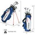 10 Pieces Men's Complete Golf Clubs Package Set with Alloy Driver
