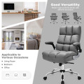 Adjustable Swivel Office Chair with High Back and Flip-up Arm for Home and Office