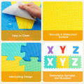 Kids Foam Interlocking Puzzle Play Mat with Alphabet and Numbers 72-Piece Set