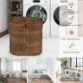 Handwoven Laundry Hamper Basket with 2 Removable Liner Bags