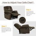 Recliner Chair Single Sofa Lounger Home Theater Seating with Footrest
